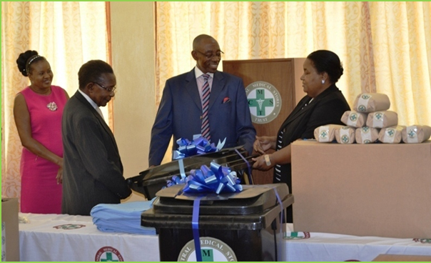 CMST Donating items to Ministry of Health